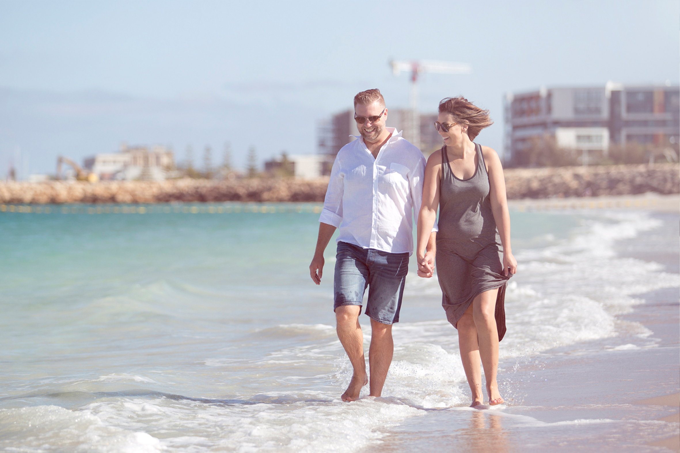 Couple Walking on a Port Coogee Beach