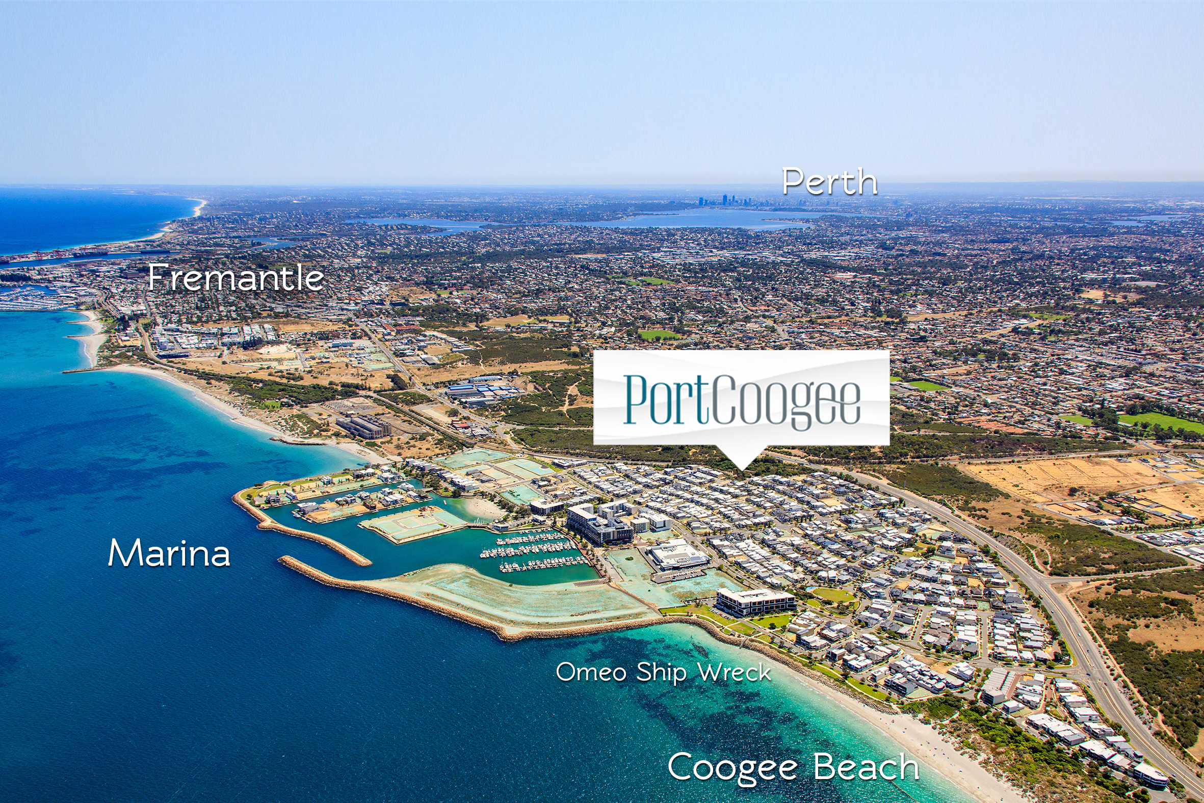 Port Coogee Aerial With Markers