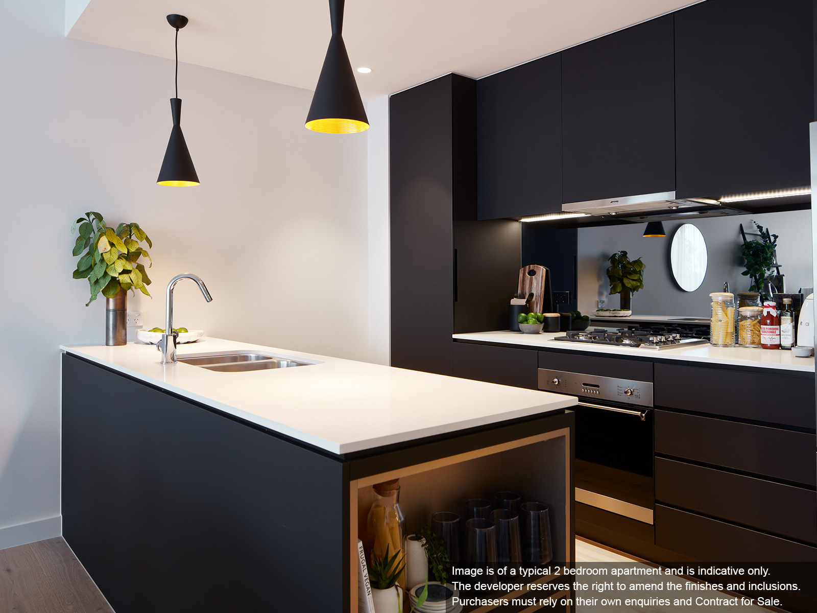 Image is of a typical 2 bedroom apartment and is indicative only.